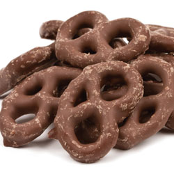 Chocolate Coated Mini Pretzels 15lb