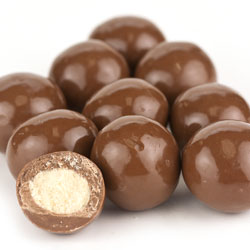 Milk Chocolate Triple Dip Malt Balls 20lb
