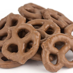 Milk Chocolate Mini Pretzels 10lb